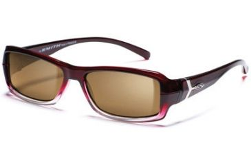Smith Optics Interchange Crossroad Sunglasses - Red Fade frame, Polarized Brown lens