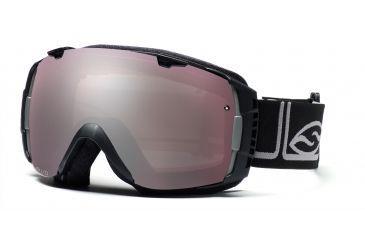 Smith I/O Goggles, Black Foundation, Polarized Rose Copper And Sensor Mirror Lenses IO7EPFK10