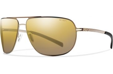 Smith Optics Lineup (New) Sunglasses - Matte Gold Frame, Polarized Gold Gradient Mirror Lenses LPPPGDGMG