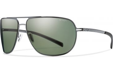 Smith Optics Lineup Sunglasses - Matte Gunmetal Frame, Polarized Gray Green Lenses LPPPGYGM