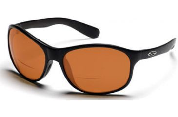 Smith Optics Lost River Reader Sunglasses - Black frames, Polarized Copper lenses