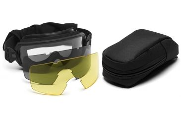 Smith Optics Outside The Wire Goggles w/ Gray & Yellow Spare Lens-Deluxe, Black Frame OTW01BK12-3R