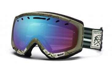 Smith Phenom Goggles, Olive Huntsman, Sensor Mirror PH6ZOH11
