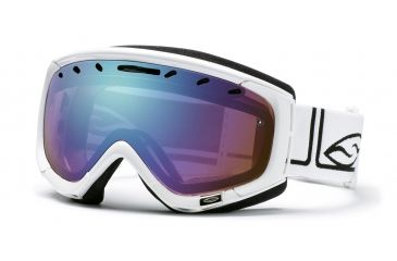 Smith Optics Phenom Ski Goggles - White Foundation frame - Sensor Mirror Lens