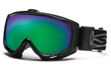 Smith Optics Phenom Turbo Fan Goggles - Black Frame, Green Sol X Mirror Lenses PH5NXBK12