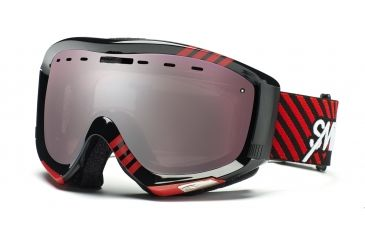 Smith Prophecy Goggles, Black/Red Commodore, Ignitor Mirror PR6IKD11