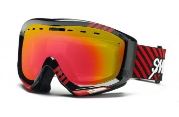 Smith Prophecy Goggles, Black/Red Commodore, Red Sensor Mirror PR6RZKD11