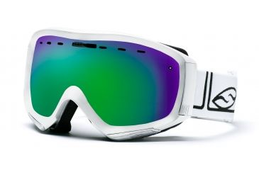 Smith Prophecy Goggles, White Foundation, Green Sol X Mirror PR6NXFW10