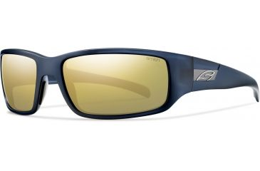 Smith Optics Prospect (New) Sunglasses - Blue Blazer Frame, Polarized Gold Mirror Lenses POPPGDMBB