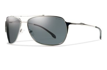 Smith Optics Rosewood Sunglasses - Silver Frame, Polarized Gray Carbonic RWPPGYSV