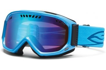 Smith Optics Scope Goggles - Cyan Frame, Blue Sensor Mirror Lenses SC3ZCY12
