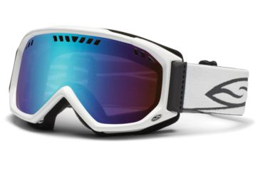 Smith Optics Scope Goggles - White Frame, Blue Sensor Mirror Lenses SC3ZWT12