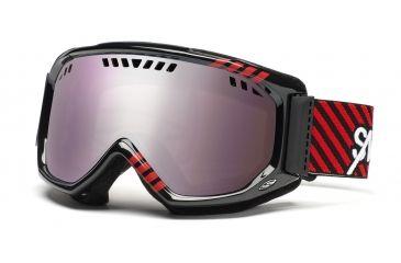 Smith Scope Graphic Goggles, Black/Red Commodore, Ignitor Mirror SG3IKD11
