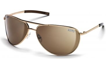 Smith Optics Serpico Sunglasses with Gold frames and Brown lenses
