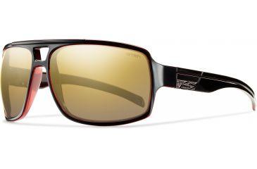 Smith Optics Swindler (New) Sunglasses - Black Red Frame, Polarized Gold Gradient Mirror Lenses SRPPGDGBRD