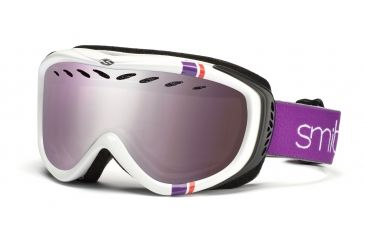 Smith Transit Graphic Goggles, White/Coral Stereo, Ignitor Mirror TG3IWS11