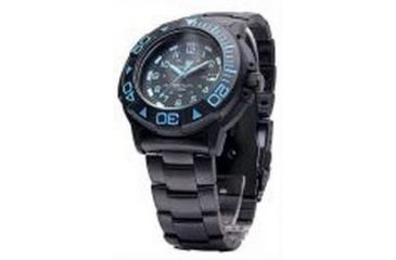 Smith & Wesson Diver Watch w/ Metal and Rubber Strap, Black/Blue SWW-900-BLU