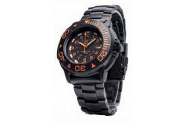 Smith & Wesson Diver Watch w/ Metal and Rubber Strap, Black/Orange SWW-900-OR