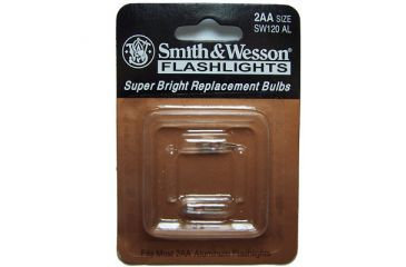 Smith & Wesson Powertech Krypton Flashlight Replacement Bulbs, Replacement Bulbs S&W Powertech Krypton 2.4v 2 pin Replacement Bulb 2 Pack - 2AA Flashlight