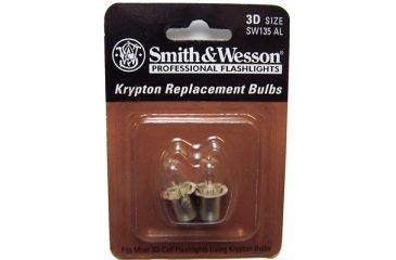 Smith & Wesson Powertech Krypton Flashlight Replacement Bulbs, Replacement Bulbs S&W Powertech Krypton 3.6v Replacement Bulb 2 Pack - 3D Flashlight
