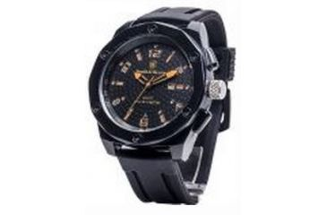 Smith & Wesson Water Resistant EGO Watch w/ Silicon Strap, 50mm, Black/Orange SWW-LW6057