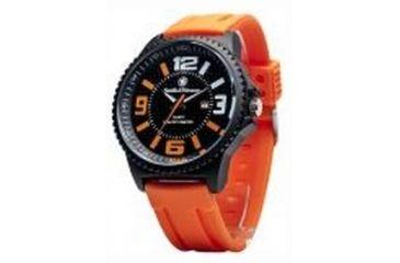 Smith & Wesson Water Resistant EGO Watch w/ Silicon Strap, 50mm, Orange/Black SWW-LW6083