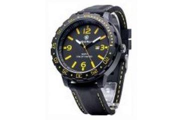 Smith & Wesson Water Resistant EGO Watch w/ Silicon Strap, 51mm, Black/Yellow SWW-LW6086