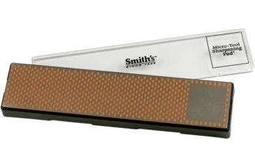 Smiths Sharpeners 11.5in. X 2.5in. Diamond Bench Stone, Fine, Black/Metallic/Orange DBSF115
