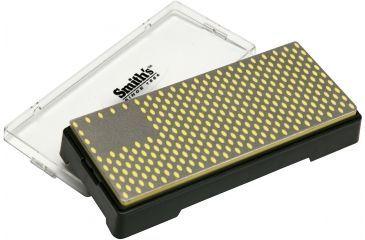 Smiths Sharpeners 6in. X 2.5in. Diamond Bench Stone, Coarse, Black/Metallic/Yellow DBSC