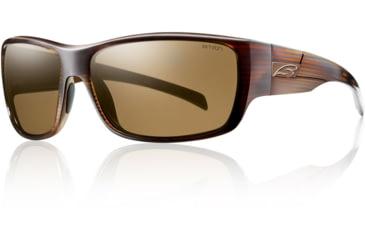 Smith Optics Frontman Sunglasses - Brown Stripe Frame w/ Polarized Brown Lens FNPPBRBS
