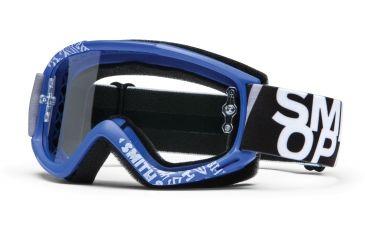 Smith Optics Fuel v.1 MX Goggles - Blue Fader Frame w/ Clear Anti Fog Lens FV1CFBF13