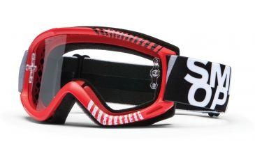 Smith Optics Fuel v.1 MX Goggles - Red Daze Frame w/ Clear Anti Fog Lens FV1CFDZ13