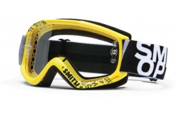 Smith Optics Fuel v.1 MX Goggles - Yellow Fader Frame w/ Clear Anti Fog Lens FV1CFYF13