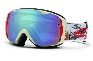 Smith Optics I/O Snow Goggles - Bone Prospector Frame w/ Blue Sensor and Red Sol X Lens IO7ZBP13