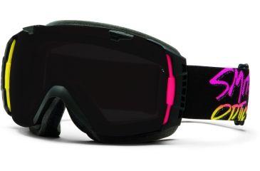 Smith Optics I/O Snow Goggles - Stay Rad Frame w/ Blackout and Red Sensor Lens IO7BKSR13