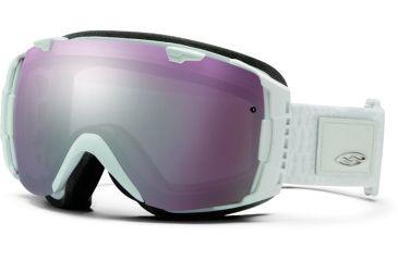 Smith Optics I/O Snow Goggles - White Danger Frame w/ Ignitor and Blue Sensor Lens IO7IWD13