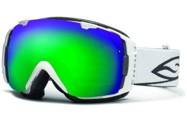 Smith Optics I/O Snow Goggles - White Frame w/ Green Sol X and Red Sensor Lens IO7NXWT12