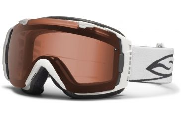 Smith Optics I/O Snow Goggles - White Frame w/ Polarized Rose Copper and Blue Sensor Lens IO7EPWT12