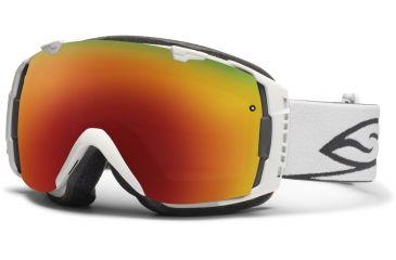 Smith Optics I/O Snow Goggles - White Frame w/ Red Sol X and Blue Sensor Lens IO7DXWT12