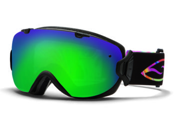 Smith Optics I/OS Snow Goggles - Facemelter Frame w/ Green Sol X and Red Sensor Lens IS7NXFM13