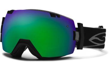 Smith Optics I/OX Snow Goggles - Black Frame w/ Green Sol X and Red Sensor Lens IL7NXBK13