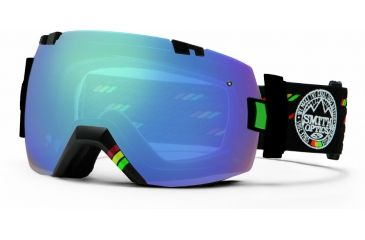 Smith Optics I/OX Snow Goggles - Irie Rockers Frame w/ Blue Sensor and Ignitor Lens IL7ZIR13