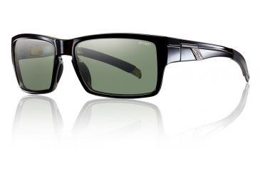 Smith Optics Outlier Sunglasses - Black Frame w/ Polarized Gray Green Lens OUPPGNBK