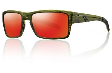 Smith Optics Outlier Sunglasses - Seaweed Frame w/ Red Sol-X Lens OUPCDMSW