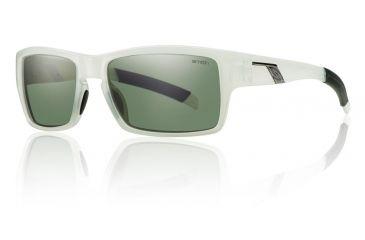 Smith Optics Outlier Sunglasses - Vintage White Frame w/ Gray Green Lens OUPCGNVW