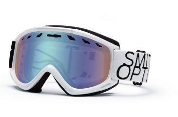 Smith Optics Sentry Snow Goggles - Black/White Data Frame w/ Blue Sensor Lens SN4ZBA13