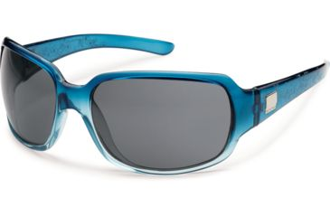 Suncloud Polarized Optics Cookie Sunglasses - Sea Blue Laser Frame and Gray Polarized Polycarbonate Lens S-COPPGYBLZ