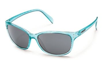 Suncloud Polarized Optics Flutter Sunglasses - Aqua Print Frame and Gray Polarized Polycarbonate Lens S-FEPPGYAQ