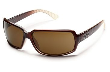 Suncloud Polarized Optics Poptown Sunglasses - Brown Stripe Laser Frame and Brown Polarized Polycarbonate Lens S-PPPPBRBZ