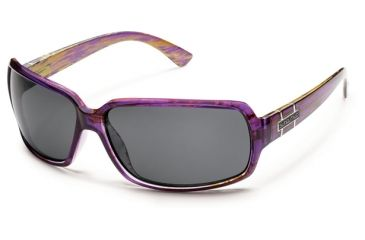 Suncloud Polarized Optics Poptown Sunglasses - Purple Backpaint Frame and Gray Polarized Polycarbonate Lens S-PPPPGYPR